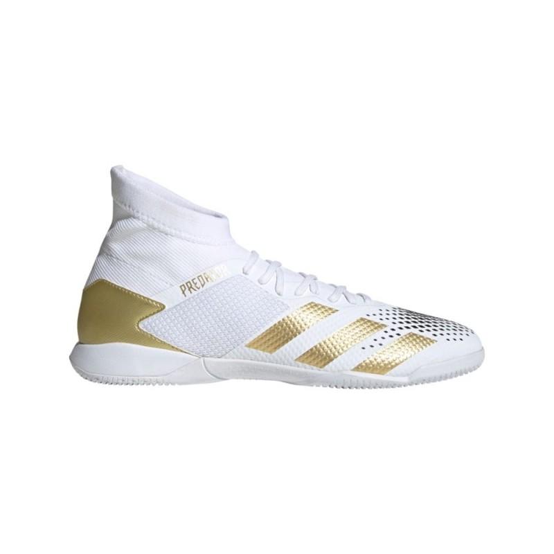 adidas Predator Mutator 20.3 Indoor - White & Gold | Evangelista Sports