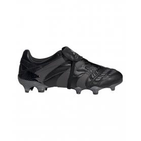 adidas Predator Accelerator Firm Ground Cleats - Black & Dark Grey | Evangelista Sports