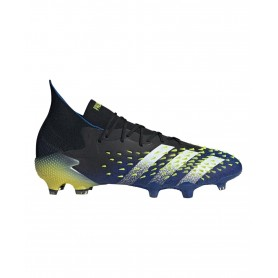 adidas Predator Freak.1 Firm Ground Cleats - Black, Blue & Yellow | Evangelista Sports