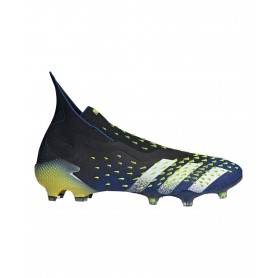 adidas Predator Freak+ Firm Ground Cleats - Black, Blue & Yellow | Evangelista Sports