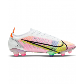 Nike Mercurial Vapor 14 Dragonfly Elite Firm Ground Soccer Cleats - White, Pink & Yellow   Evangelista Sports