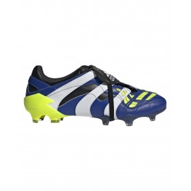 adidas Predator Accelerator Hyperlative Firm Ground Cleats - Blue, Yellow & White | Evangelista Sports