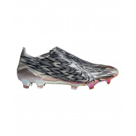 adidas X Ghosted+ Peregrine Speed Firm Ground Cleats - Silver, Black & Red | Evangelista Sports