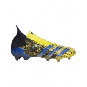 adidas Predator Freak.1 Wolverine Firm Ground Cleats - Yellow, Black & Blue   Evangelista Sports