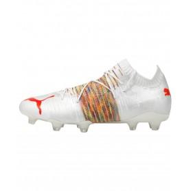 Puma Future Z 1.1 Firm Ground & Artificial Grass Cleats - White & Orange   Evangelista Sports