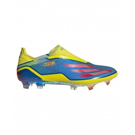 adidas X Ghosted+ Cyclops Firm Ground Cleats - Blue, Yellow & Red   Evangelista Sports