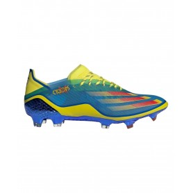 adidas X Ghosted.1 Cyclops Firm Ground Cleats - Blue, Yellow & Red   Evangelista Sports