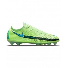 Nike Phantom GT Elite Firm Ground Cleats - Lime, Aqua Blue & Black | Evangelista Sports