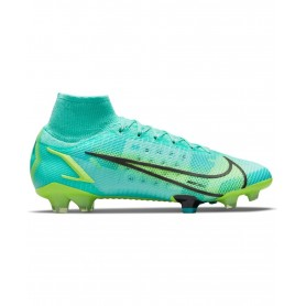 Nike Mercurial Superfly 8 Elite Firm Ground Cleats - Turquoise & Lime | Evangelista Sports
