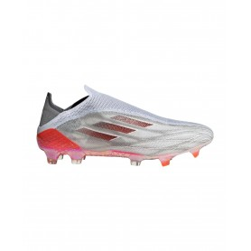 adidas X Speedflow+ Firm Ground Cleats - White, Grey & Red   Evangelista Sports
